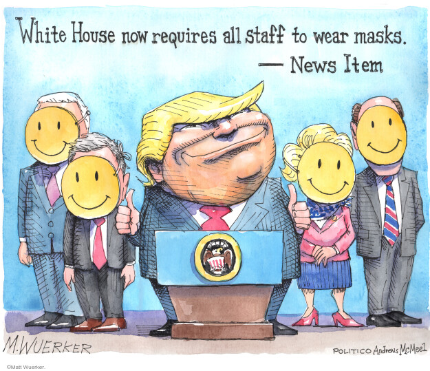 White House now requires all staff to wear masks. - News Item.