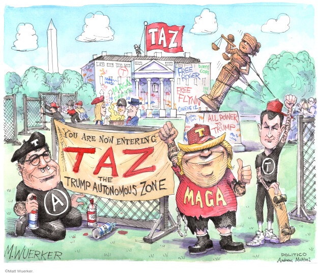TAZ. Free Roger. T. Free Flynn. All power to Trump. You are now entering Taz the Trump autonomous zone. MAGA.