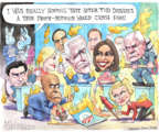 Matt Wuerker  Matt Wuerker's Editorial Cartoons 2019-08-02 2020 election Democratic debate