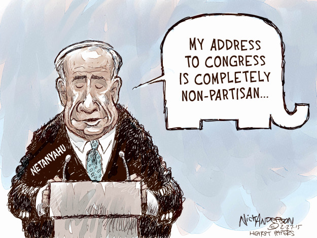 My address to Congress is completely non-partisan � Netanyahu.