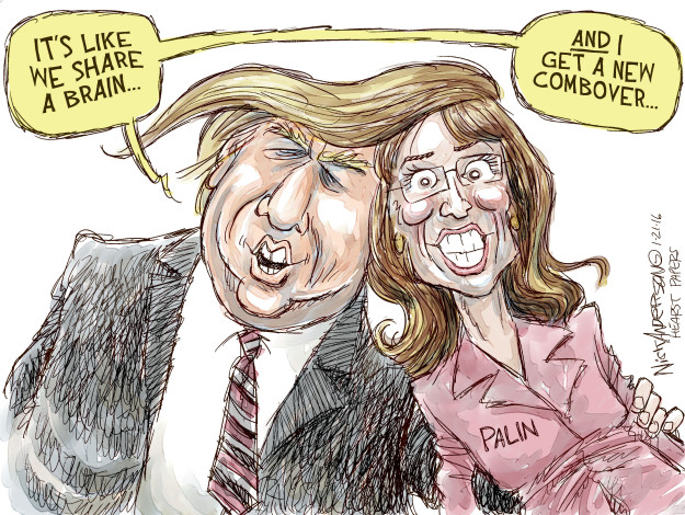 Its like we share a brain ... and I got a new combover.  Palin.