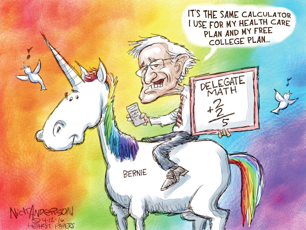 Its the same calculator I use for my health care plain and my free college plan � Delegate math. 2+2 = 5. Bernie.