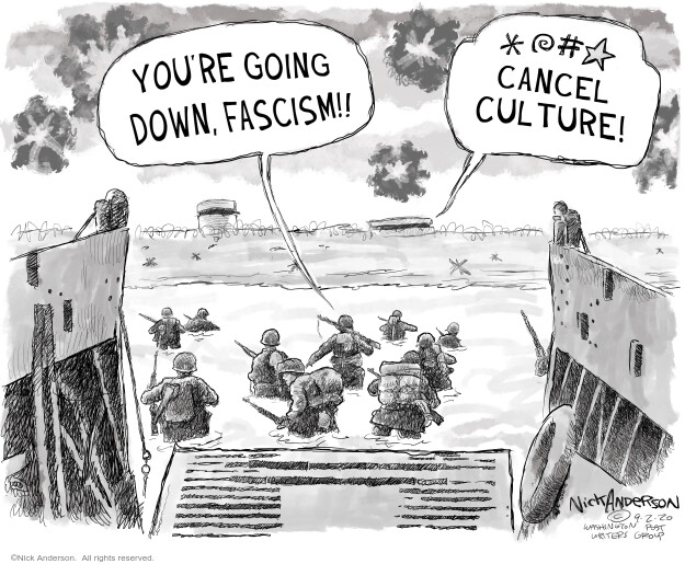 Youre going down, Fascism!! *@#* cancel culture!