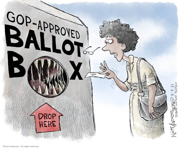 GOP-approved ballot box. Drop here.