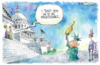 Nick Anderson  Nick Anderson's Editorial Cartoons 2005-02-02 democracy