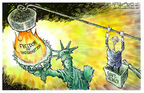 Nick Anderson  Nick Anderson's Editorial Cartoons 2005-03-11 freedom of the press
