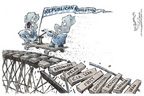 Nick Anderson  Nick Anderson's Editorial Cartoons 2006-01-05 conflict of interest