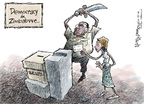 Nick Anderson  Nick Anderson's Editorial Cartoons 2008-06-25 democracy