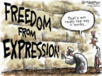 Nick Anderson  Nick Anderson's Editorial Cartoons 2012-09-18 freedom of speech