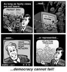 Kirk Anderson  Kirk Anderson's Editorial Cartoons 2004-04-10 democracy