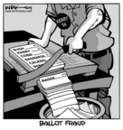 Kirk Anderson  Kirk Anderson's Editorial Cartoons 2004-10-29 democracy
