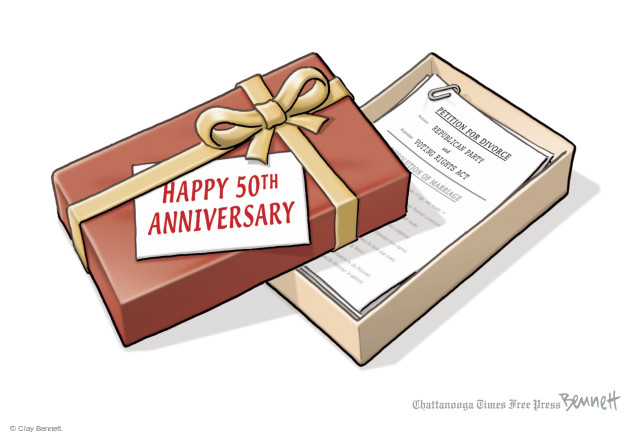 Happy 50th Anniversary. Petition for Divorce. Republican Party. And Voting Rights Act. Dissolutions of Marriage.