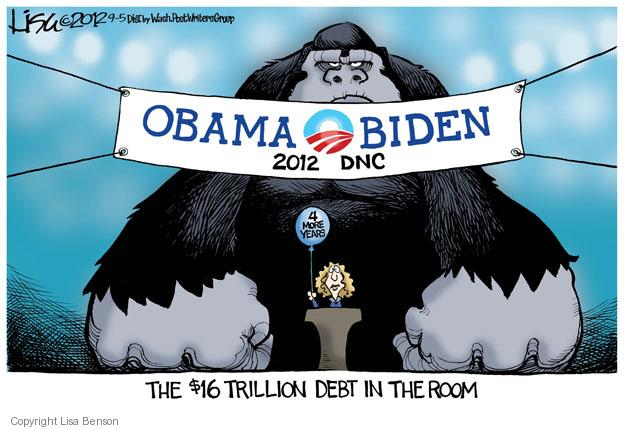 Obama Biden 2012 DNC. The $16 trillion debt in the room. 4 more years.