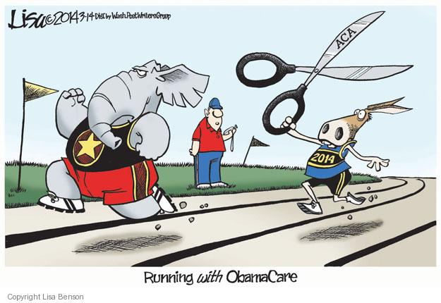 Running with Obamacare. ACA. 2014.