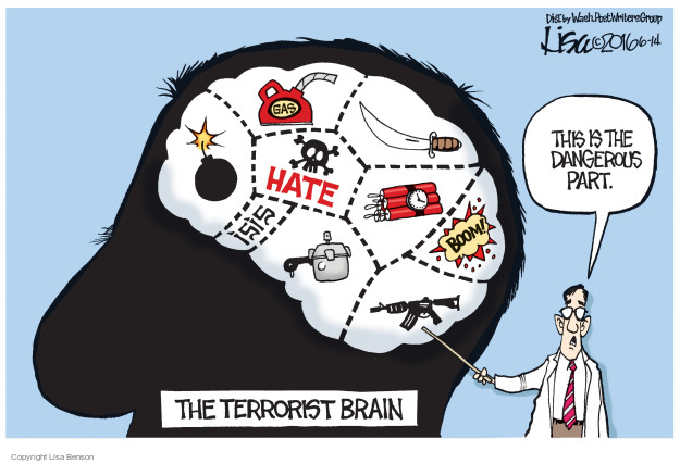 Gas. Hate. ISIS. Boom! This is the dangerous part. The Terrorist Brain.