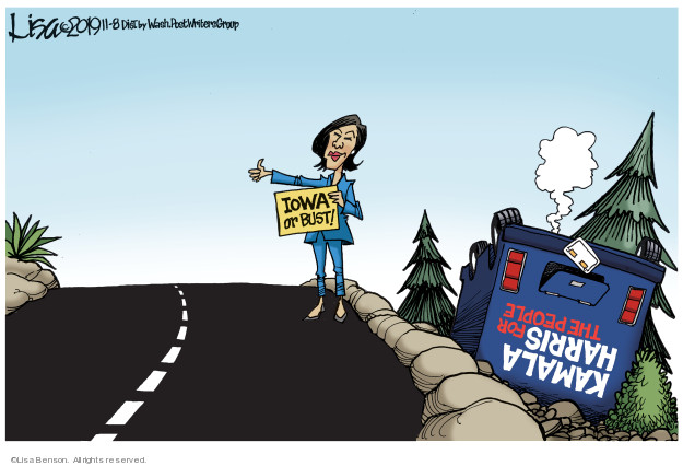 Iowa or bust! Kamala Harris for the people.