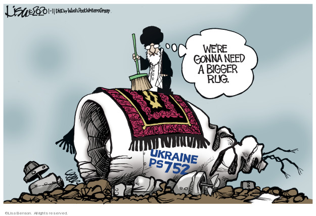 Were gonna need a bigger rug. Ukraine PS752.