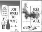 Chip Bok  Chip Bok's Editorial Cartoons 2005-01-17 democracy