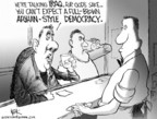 Chip Bok  Chip Bok's Editorial Cartoons 2004-10-25 democracy