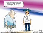 Chip Bok  Chip Bok's Editorial Cartoons 2006-03-31 illegal immigration