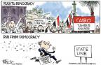 Chip Bok  Chip Bok's Editorial Cartoons 2011-02-21 democracy