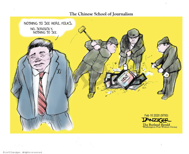 The Chinese School of Journalism. Nothing to see here, folks. No, seriously, nothing to see. Xi. News.