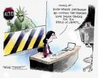 John Deering  John Deering's Editorial Cartoons 2014-07-16 immigration sign