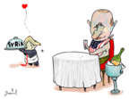 Gustavo Rodriguez  Garrincha's Editorial Cartoons 2018-04-06 United States and Russia