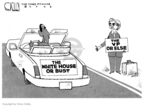 Steve Kelley  Steve Kelley's Editorial Cartoons 2008-06-05 running mate