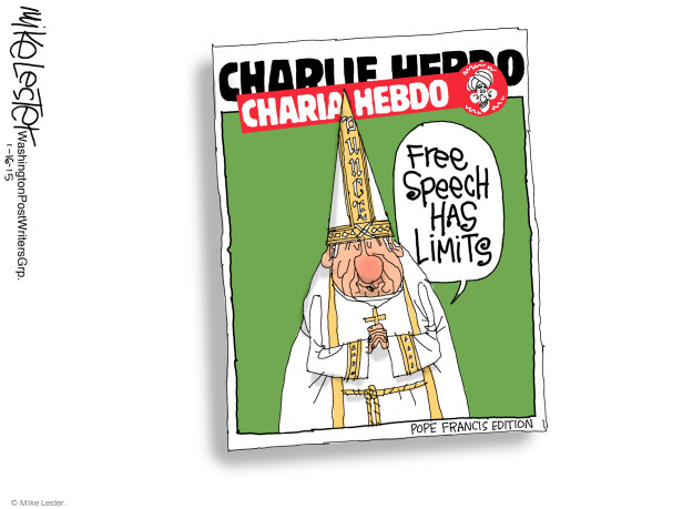 Charlie Hebdo. Free speech has its limits. Pope Francis edition.