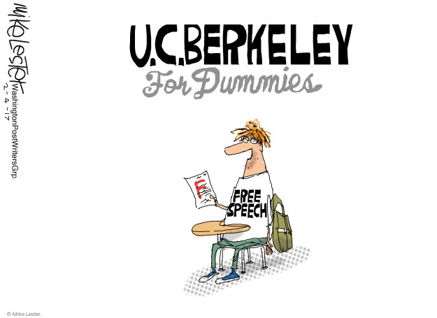 U.C. Berkeley for Dummies. F. Free speech.