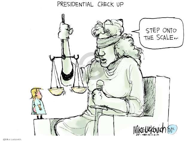 Presidential Check Up. Step onto the scale �