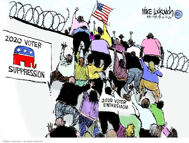 2020 Voter Suppression.  2020 Voter Enthusiasm.