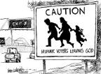 Mike Luckovich  Mike Luckovich's Editorial Cartoons 2010-05-04 immigration sign