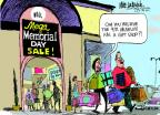 Mike Luckovich  Mike Luckovich's Editorial Cartoons 2014-05-25 holiday shopping