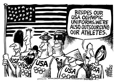 USA.  USA.  Besides our USA Olympic uniforms, were also outsourcing our athletes.