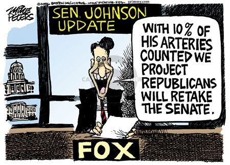 Senator Johnson Update.  With 10% of his arteries counted we project Republicans will retake the senate.  Fox.