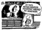 Mike Peters  Mike Peters' Editorial Cartoons 2002-01-16 accounting audit