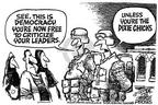 Mike Peters  Mike Peters' Editorial Cartoons 2003-04-27 freedom of speech