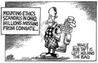 Mike Peters  Mike Peters' Editorial Cartoons 2005-08-22 corruption