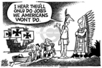 Mike Peters  Mike Peters' Editorial Cartoons 2006-04-01 illegal immigration