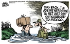 Mike Peters  Mike Peters' Editorial Cartoons 2006-04-14 illegal immigration