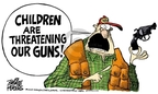 Mike Peters  Mike Peters' Editorial Cartoons 2007-11-15 gun rights