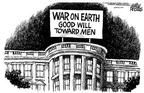 Mike Peters  Mike Peters' Editorial Cartoons 2002-12-26 war on Christmas