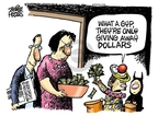Mike Peters  Mike Peters' Editorial Cartoons 2009-10-15 dollar
