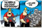 Mike Peters  Mike Peters' Editorial Cartoons 2013-05-03 assault rifle