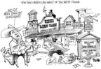 Dwane Powell  Dwane Powell's Editorial Cartoons 2005-06-04 conflict of interest