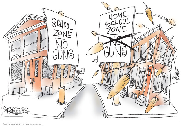 School zone. No guns. Home school zone. No guns.