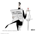 Ann Telnaes  Ann Telnaes' Editorial Cartoons 2002-04-17 synagogue