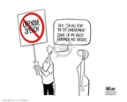 Ann Telnaes  Ann Telnaes' Editorial Cartoons 2006-02-23 freedom of speech
